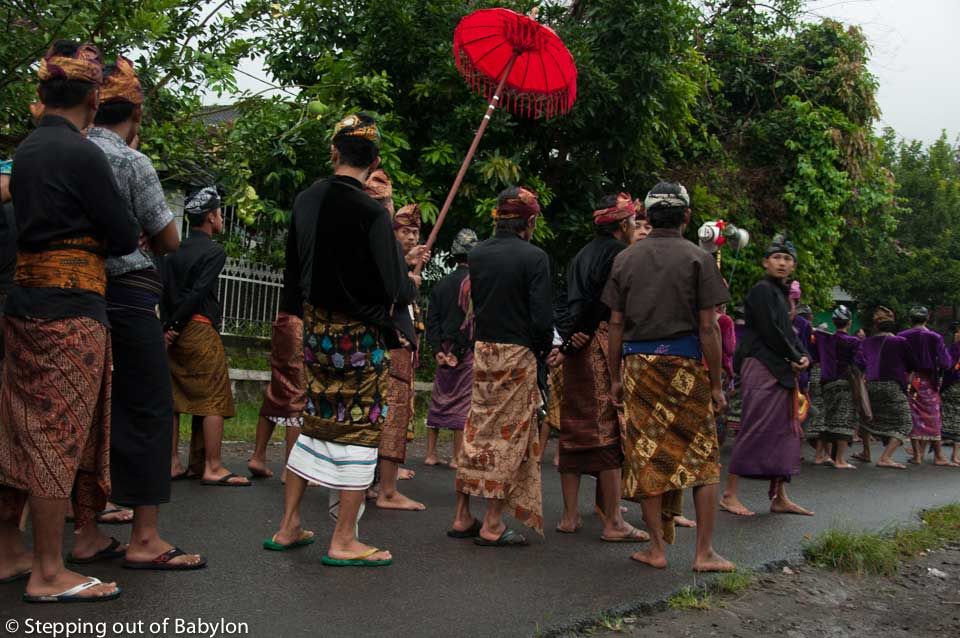 Sasak wedding parade at Tetebatu