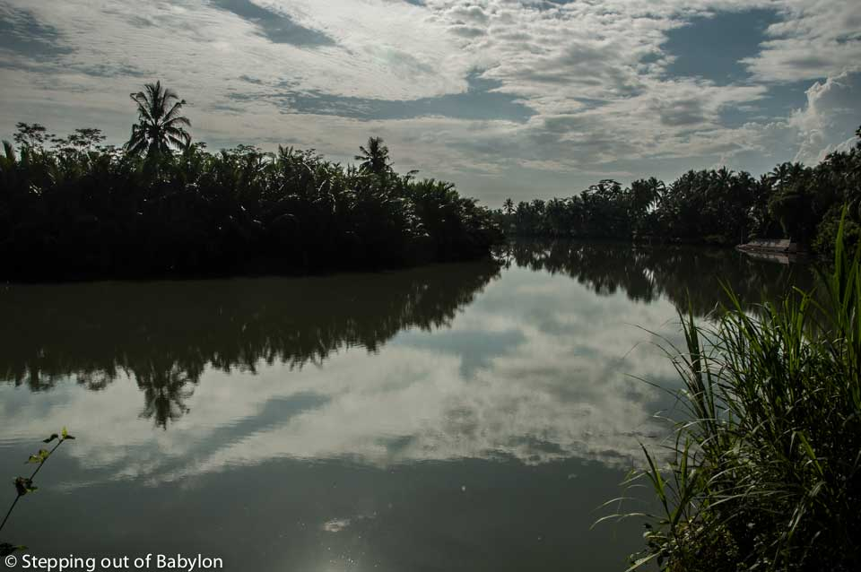 the shortcut from Batu Karas to Cijulang pass by a lagoon area as also through bamboo forest