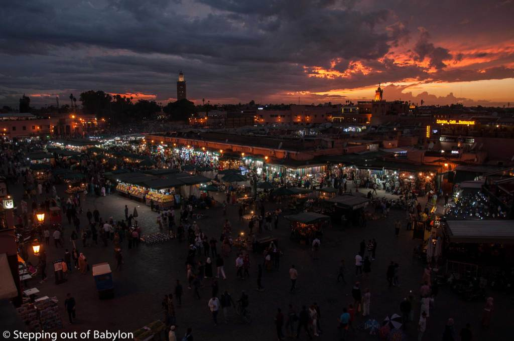 Jemaa el-Fnaa, the central square of Marrakesh medina