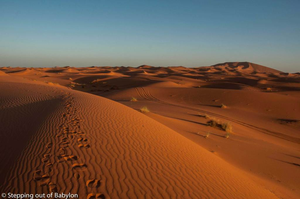 Erg Chebbi at sunrise