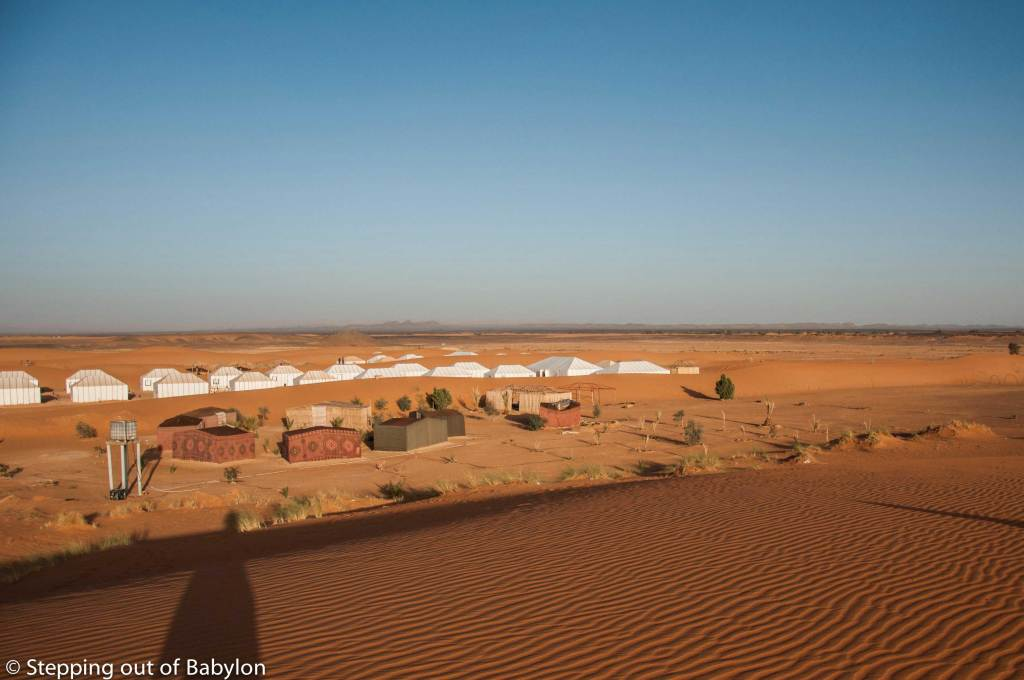 "one of the ""desert camps"" or ""bivouac"" of Erg Chebbi"