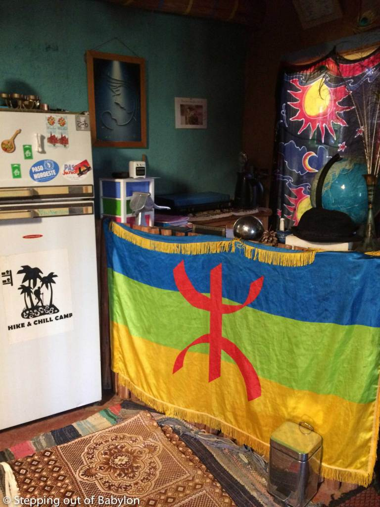 Hike and Chill Hostel in Tinghir with the Berber flag