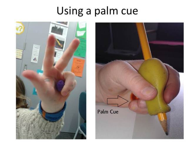 Using a palm cue