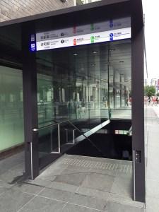 大阪市営地下鉄「本町」駅 駅隣接階段(グリハードプロ白)