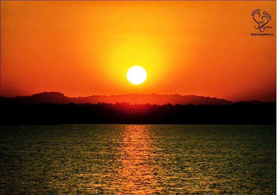 Sunset view from Markonahalli dam