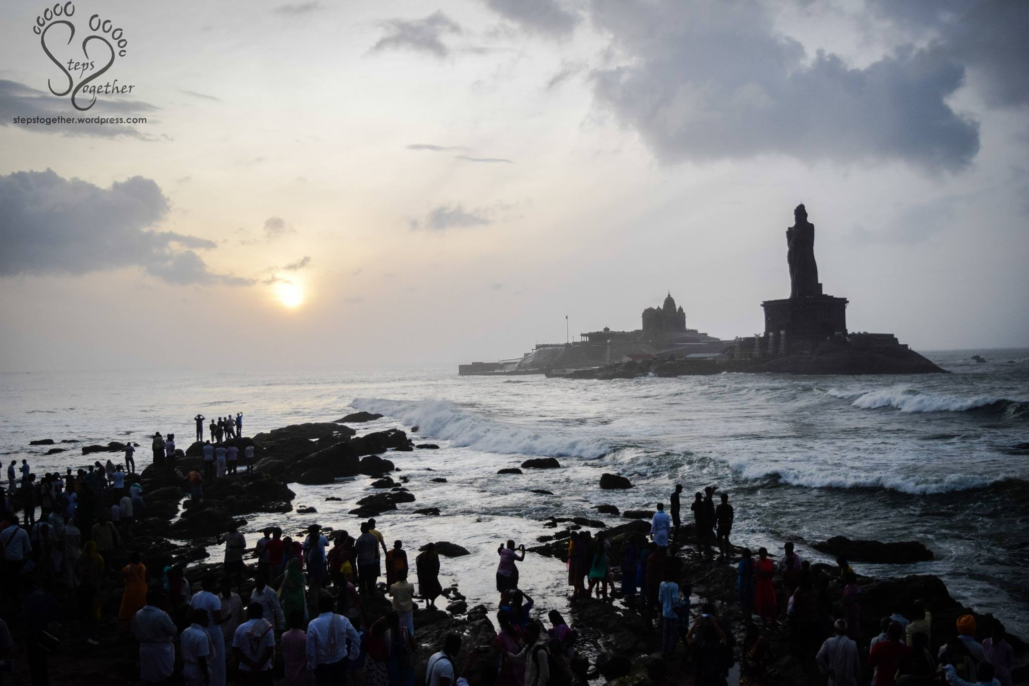Cloud Clad Sunrise in Kanyakumari