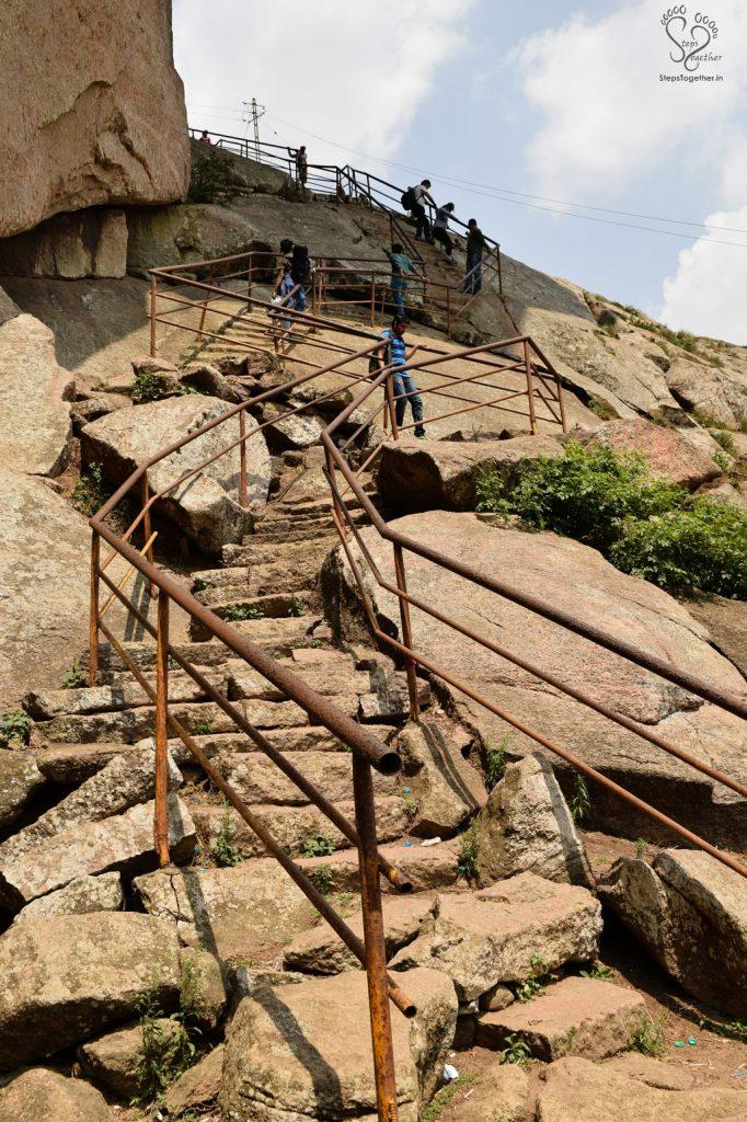 Final stretch of steep steps