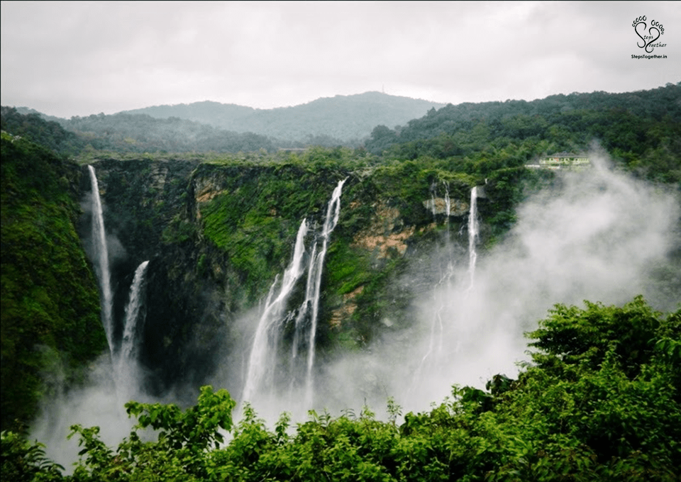 Clouds covering the falls