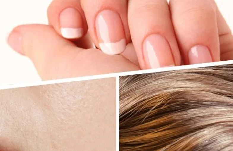 Image result for STRENGTHENS HAIR, SKIN, AND NAILS.