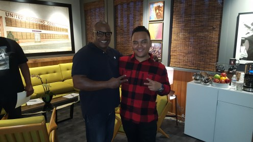 Greg Smith AKA G The Producer ( CEO of Step To The Mic ) with Troy Laureta ( Ariana Grande Music Director )