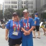 Marnie and Chris volunteering at LA17WPFG
