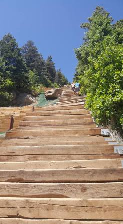 close up of steps at Manitou Inline Colorado June2018