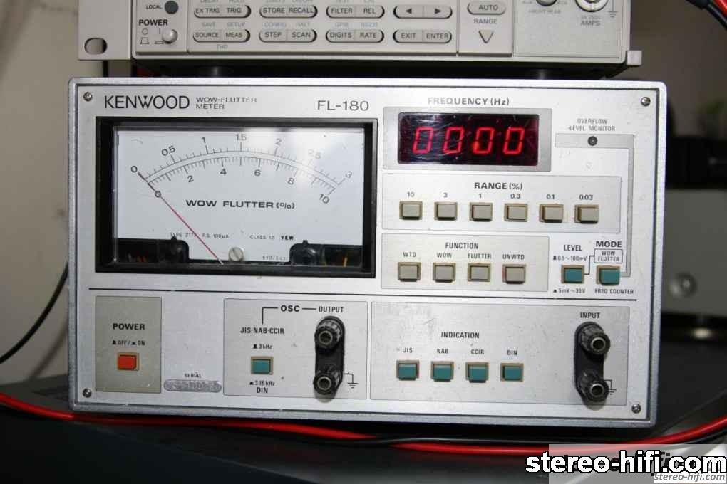 Kenwood FL-180 wow & flutter meter