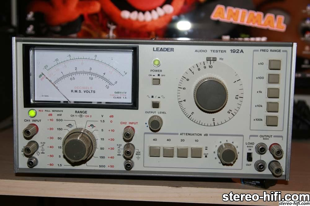 LEADER AUDIO TESTER 192A front
