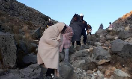 Rescatados en el volcán Tajumulco
