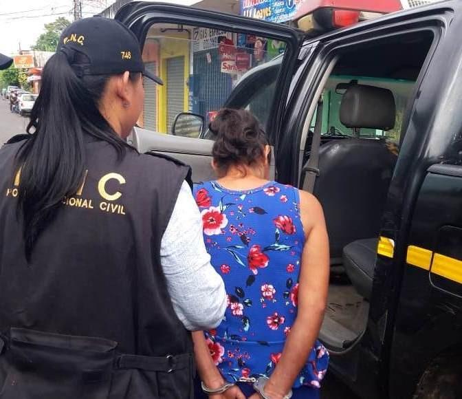 Capturada por trata de personas en Coatepeque. La víctima es su hija