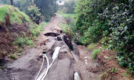 Estragos en Totonicapán por aguacero de esta tarde