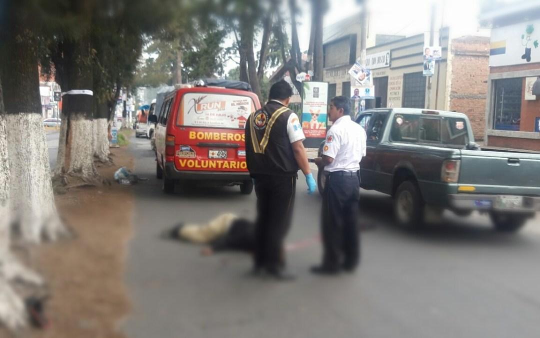 Hombre muere arrollado en la zona 3 de Xela