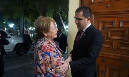 Bachelet en Venezuela: «Espero escuchar todas las voces»