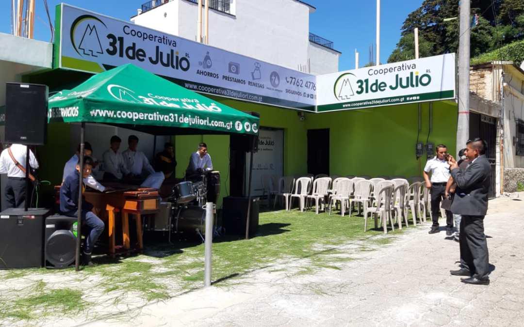 Cooperativa 31 de Julio inaugura sede en Sololá