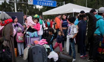 Miles de venezolanos llegaron el fin de semana a Ecuador para evitar requisito de visa humanitaria