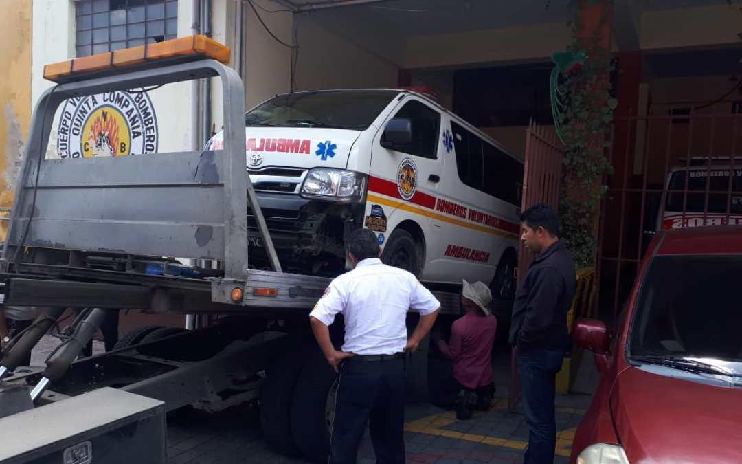 Bomberos de Xela solicitan ayuda para reparar ambulancia