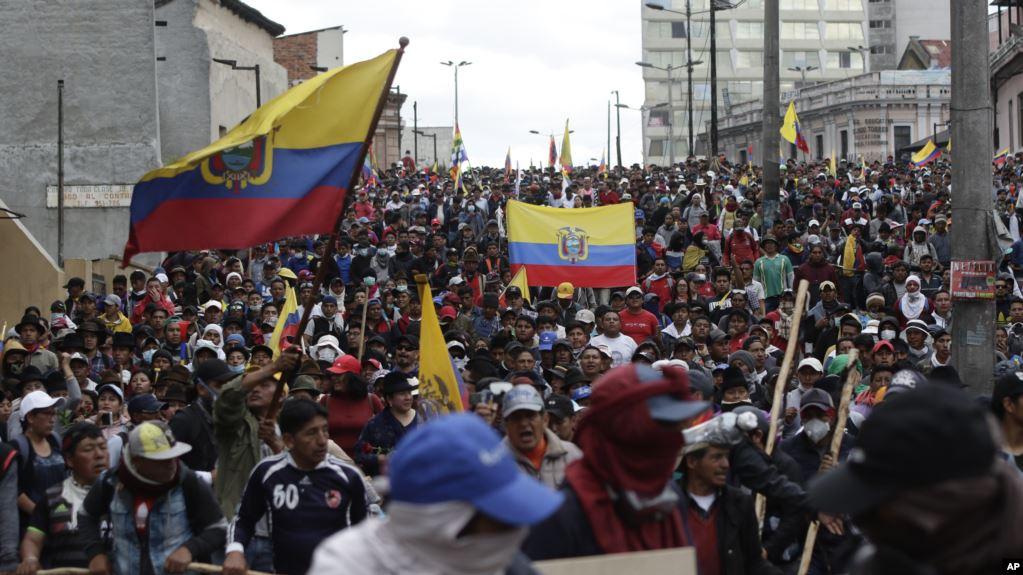 Sigue la tensión en Ecuador a más de una semana del inicio de las protestas contra el gobierno