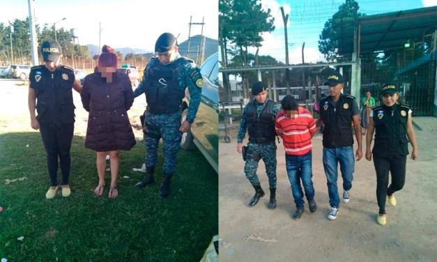 Capturan a pareja señalada de extorsión. En el ingreso a la Granja Penal Cantel
