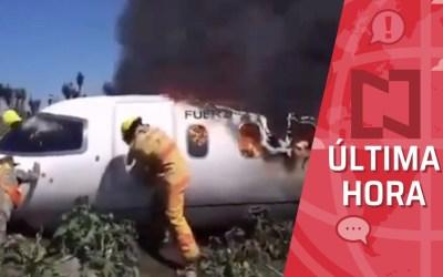 Mueren seis militares tras desplomarse aeronave