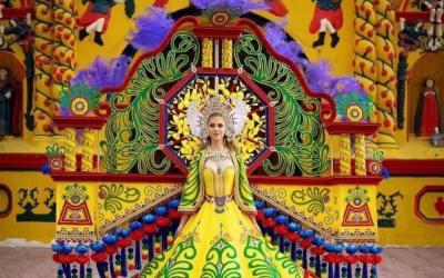 """Quetzalteca competirá en Tailandia con el traje """"Xecul Occidental"""""""