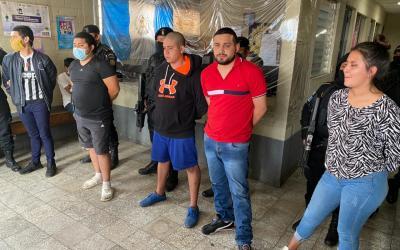 Cinco capturados permite liberación de una persona presuntamente secuestrada