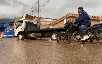 Lluvias provocan cierre del paso a las comunidades del Valle de Palajunoj