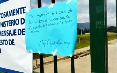 Puestos de vacunación en Quetzaltenango están cerrados