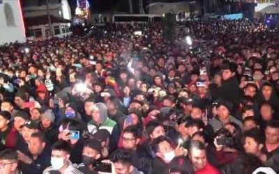 Concierto masivo al aire libre en Totonicapán se realiza en la semana con más contagios de covid-19 en el país