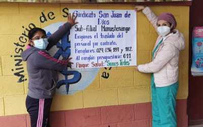 Personal de salud hace un llamado al Gobierno de Guatemala