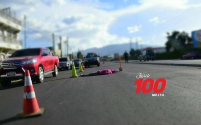 Hombre muere en accidente de tránsito en la Autopista Los Altos de Quetzaltenango