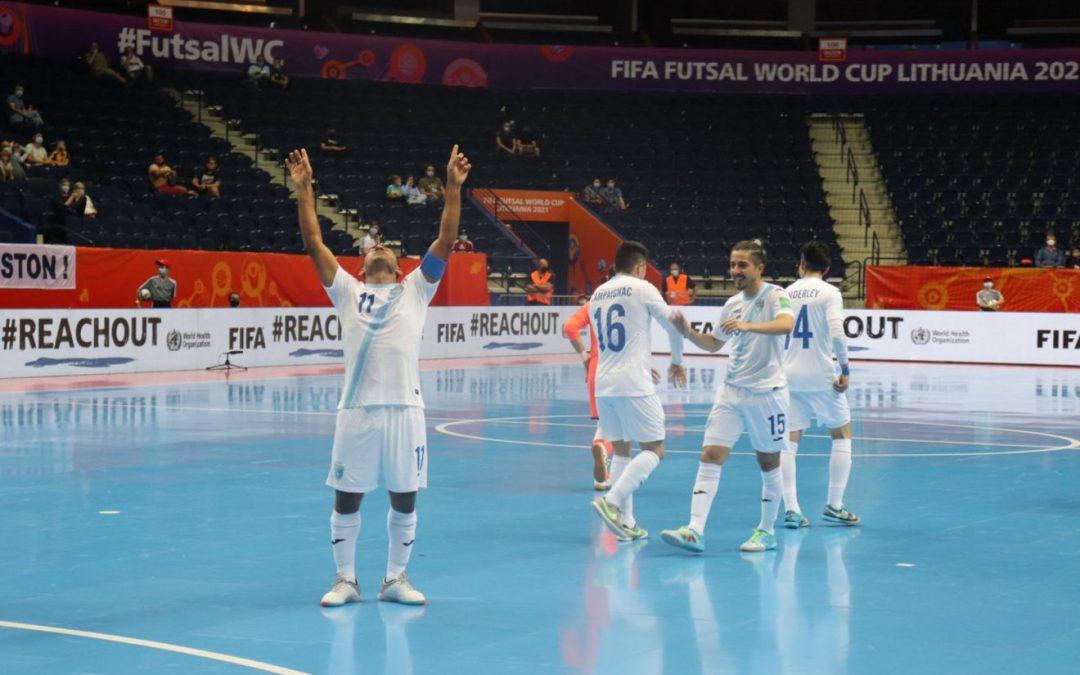 Guatemala triunfa en su debut en el mundial de futsal Lituania 2021, sobre Uzbekistán (4-5)