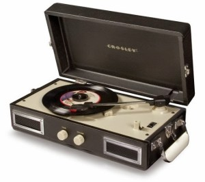play cassette, compact discs MP3 on record player