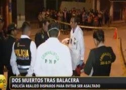 Policía abatió a presunto delincuente durante balacera en urbanización Pachacámac