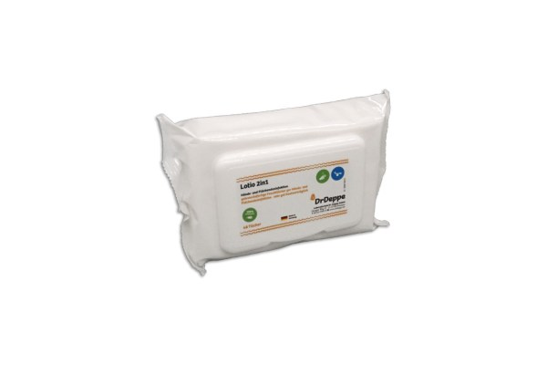 DrDeppe Lotio 2in1 Wipes Flowpack | 48 Tücher 1