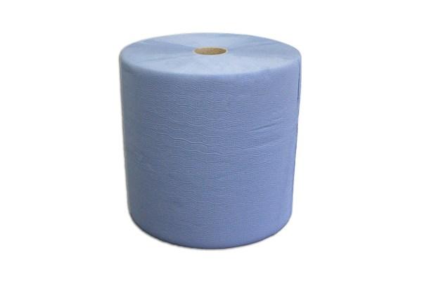 Putzrolle blau 3-lagig   1000 Blatt – Handtuchrolle XXL
