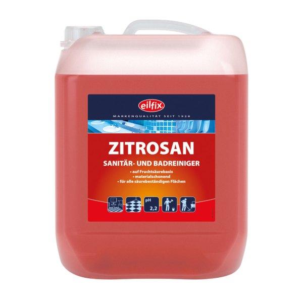 Eilfix Zitrosan 10 L   Sanitär- und Badreiniger 1