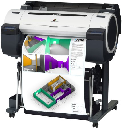 Canon imagePROGAF iPF670 Wide-Format Printer