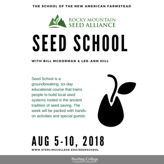 Rocky Mountain Seed Alliance Seed School