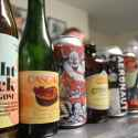 Various beers from the art and science of brewing class including Yacht Rock and Aeronaut