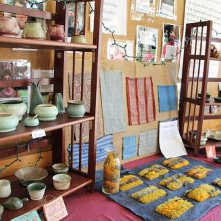 Handmade crafts on display