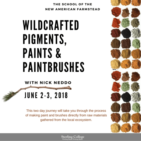 Wildcrafted Pigments, Paints and Paintbrushes