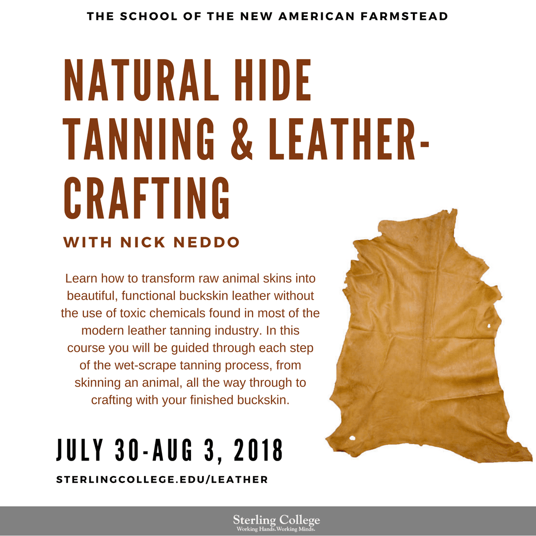 HIde Tanning and Leather Craft