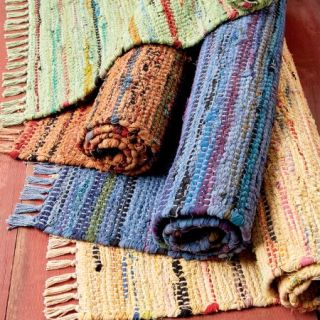 colorful rag rugs