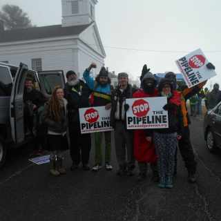 Students gather in protest of the VT Pipeline